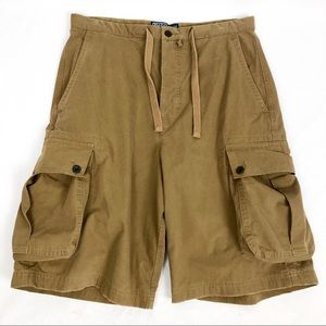Polo by Ralph Lauren Tan Cotton  Cargo Shorts 32